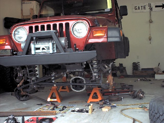 Jeep in the shop